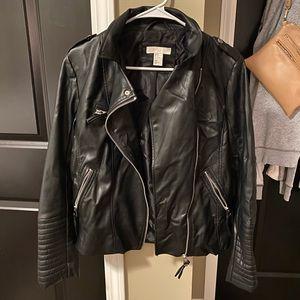 Faux leather H&M jacket